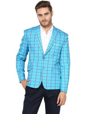 Multicolor Plain Blended Cotton Stitched Men Blazers