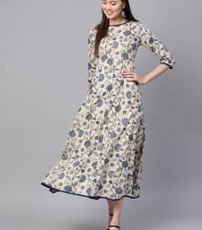 blue Paisley Flared Midi Dress