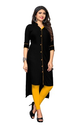 Black Color Reyon 14KG  Stitched Kurti