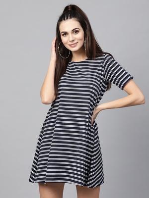 blue White Stripe Tent Dress