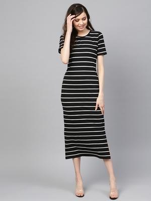 Black White Stripe Maxi