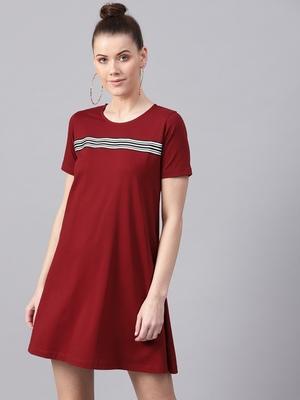 Maroon Tent Athleisure Dress