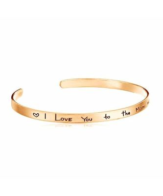 I Love You too The Moon And Back Cuff