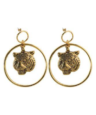 Golden Tiger Loop Drop Earrings