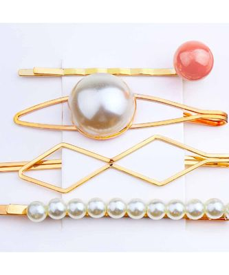 Lillie Pearl Golden 4 Hair Pin Set