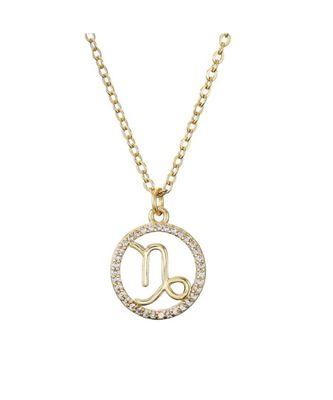 Capricorn zodiac Sign Crystal Pendant