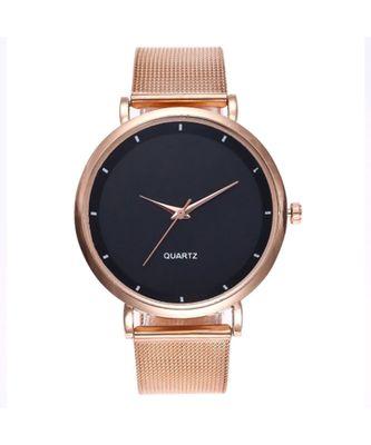 Iola Golden-Black Glam Watch