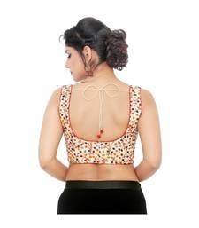 Multi-Colour  Cotton  Padded Designer Ready Made Saree Blouse