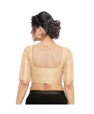 Gold  shimmer padded designer ready made saree blouse