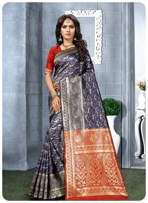 Banarasi soft silk champion saree with Blouse