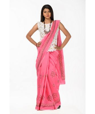 Paint the town pink Wrap in 1 Minute saree
