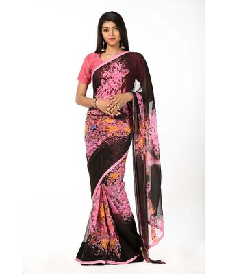 Flowery Bouquet Wrap in 1 Minute saree