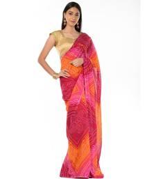 Traditional bandhani magic Wrap in 1 Minute saree