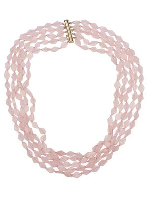 Pink quartz necklaces