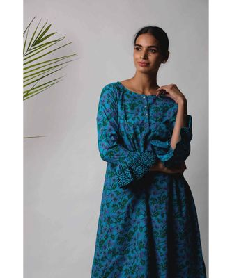 Blue Darsha cotton Kurta