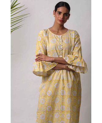Yellow Deeba cotton Kurta