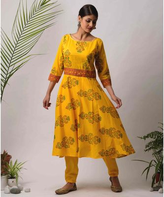 Yellow Gargi cotton Kurta