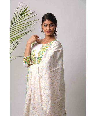 White Hina cotton Dupatta