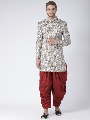 multicolor Printed polyester stitched indo western dresses