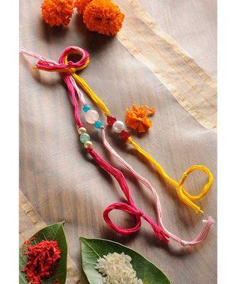Handmade Semi Precious Stone Rakhis - Set Of 3