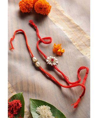 Handmade Floral Rakhis - Set Of 2