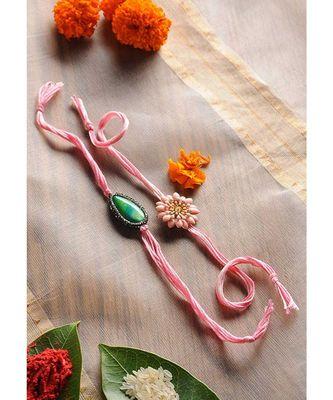 Handmade Pink Rakhis - Set Of 2