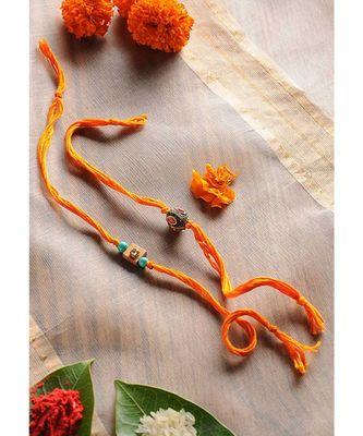 Handmade Kundan And Markasite Rakhis - Set Of 2