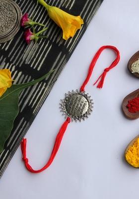 Red Handcrafted Rakhi