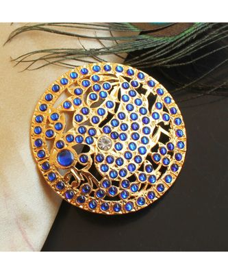 Beautiful Blue Peacock Designer Hair Jewel ( Rakodi)