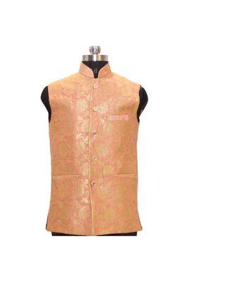 Jodhpuri Men's Cream colour nehru jacket