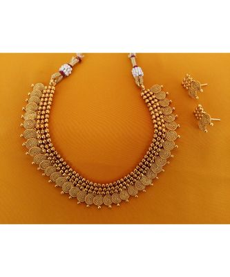 Georgeous  Gold Plated  Necklace Set