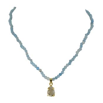 Blue agate necklaces