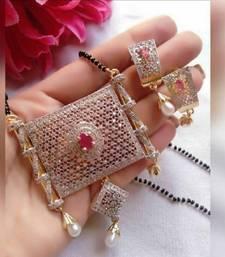 Pink diamond mangalsutra