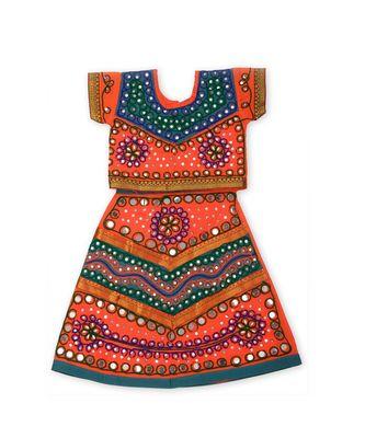 Orange/Blue Girls Chaniya Choli