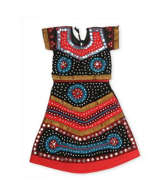 Black/Red Girls Chaniya Choli