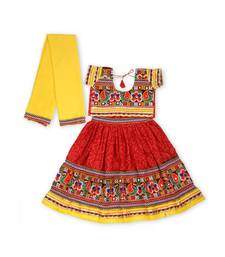 Yellow Bandhani Print Chaniya Choli