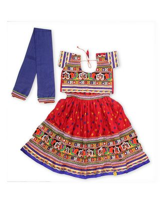 Red Bandhani Print Chaniya Choli