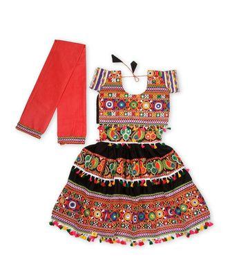Black Kutchi Embroidery Chaniya Choli