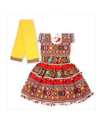 Red Kutchi Embroidery Chaniya Choli