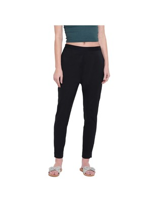 women slim fit black pencil trouser pant