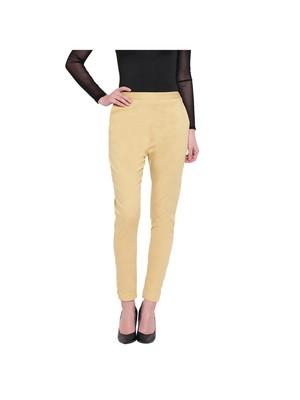 women slim fit skin colour pencil trouser pant