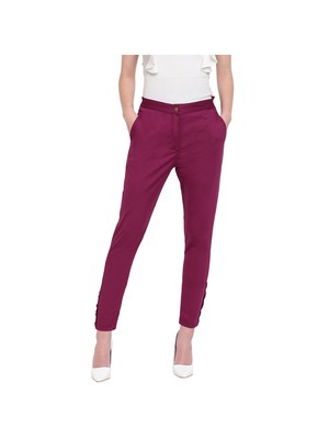 women slim fit wild berry crop blossom capri trouser pant
