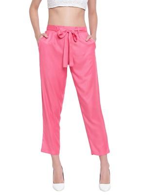 Women's Fashionable Stylish Crimson Trousers