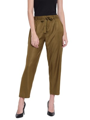 Women's Fashionable Stylish Military Green Trousers