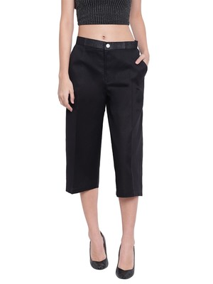 Women's Fashionable Stylish Black Trousers