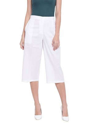 Women's Fashionable Stylish White Trousers