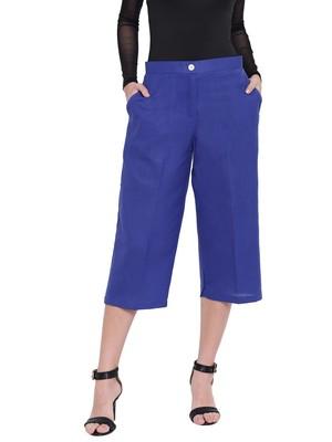 Women's Fashionable Stylish Royal Blue Trousers