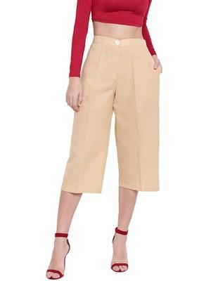 Women's Fashionable Stylish Beige Trousers