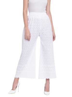 Women's Fashionable Stylish Off White Trousers