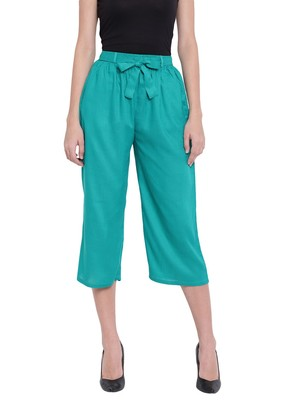 Women's Fashionable Stylish Sea Green Trousers